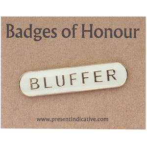 Bluffer Enamel Pin