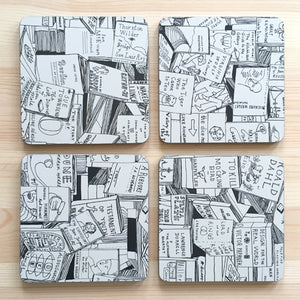 'Books' Coaster Set