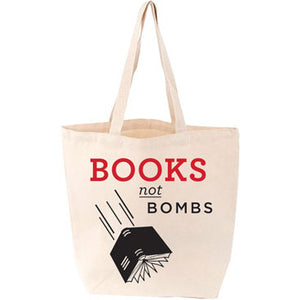'Books Not Bombs' Canvas Tote Bag