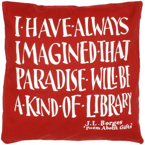 Borges Library Cushion Cover