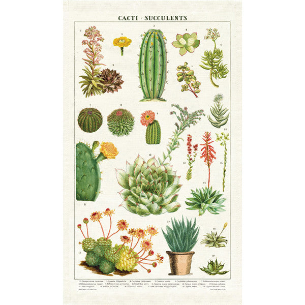 Cacti And Succulents Tea Towel