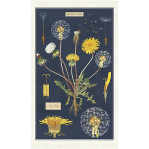 Dandelion Chart Tea Towel
