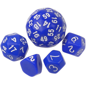 Set of 5 Polyhedral Dice