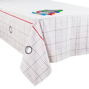 Doodle Tablecloth - Graph Paper