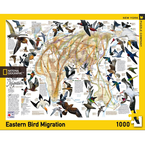 Bird Migration 1000 Piece Puzzle - Eastern