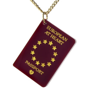 Love EU Passport Necklace