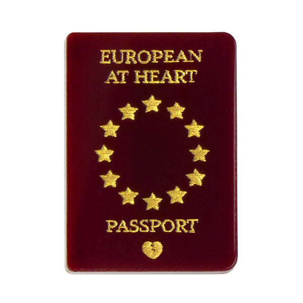 Love EU Passport Brooch