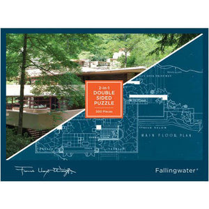 Fallingwater 2-in-1 Double Sided 500-piece Jigsaw Puzzle
