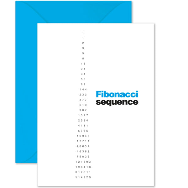 Fibonacci Sequence Card