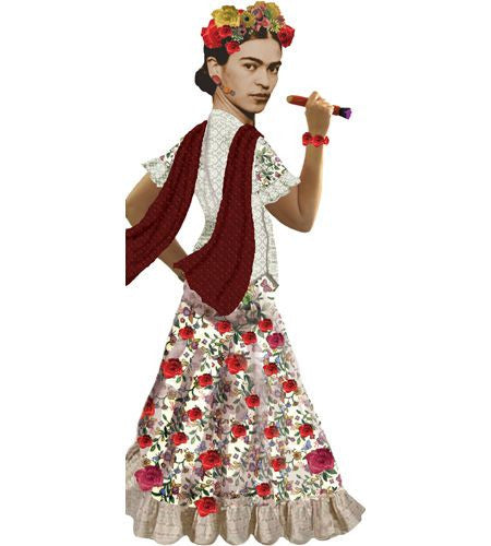 Frida Kahlo Shaped Card