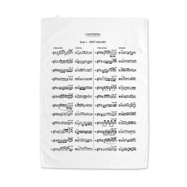 The Well-Tempered Clavier Tea Towel