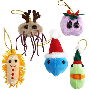 Giant Microbes Germ Christmas Tree Ornaments