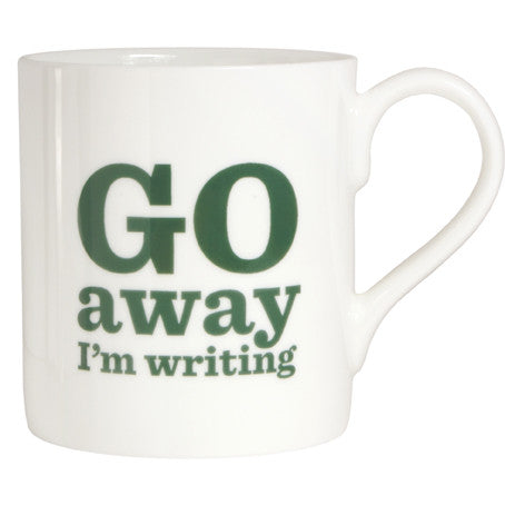Go Away I'm Writing Bone China Mug