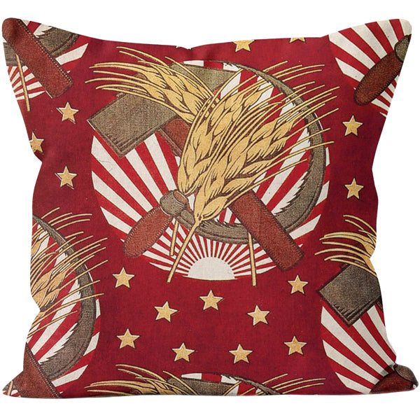Hammer and Wheatsheaf Cushion