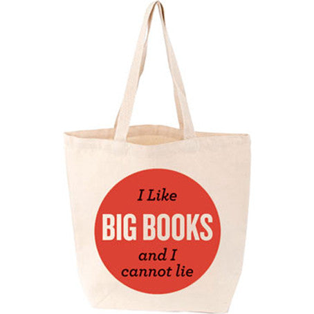 I Like Big Books... Canvas Tote Bag