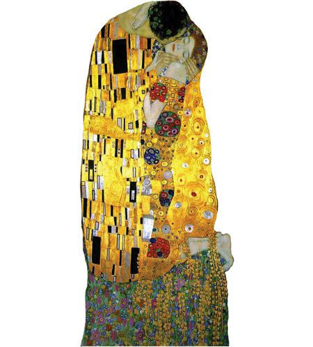 Klimt's The Kiss Shaped Card