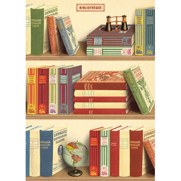 Library Books Wrapping Paper / Poster