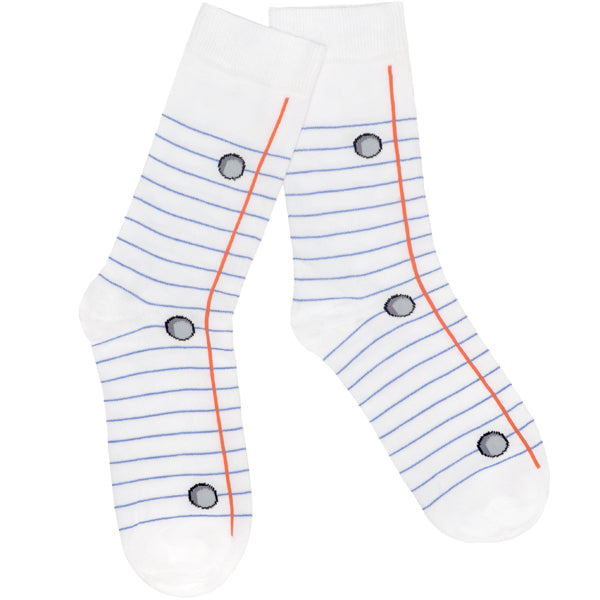 Lined Paper Socks  Lined Paper With Picture