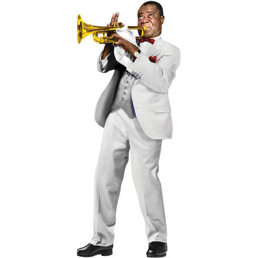Louis Armstrong Shaped Card