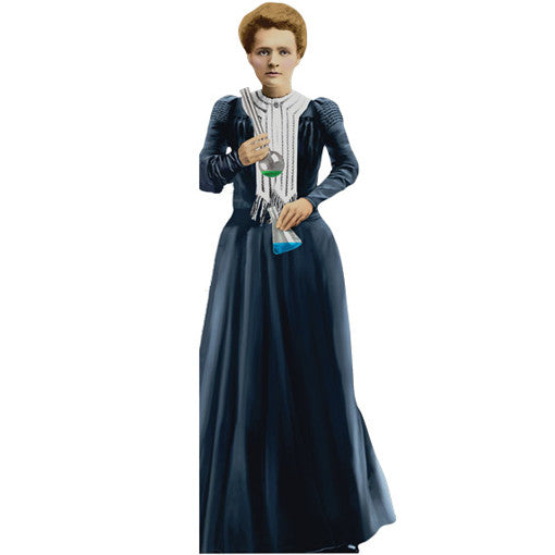Marie Curie Shaped Card
