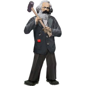 Karl Marx Shaped Card