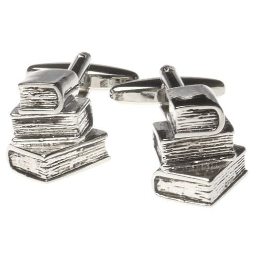 Metal Book Stack Cufflinks
