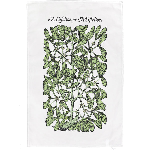 Gerard's Herbal Mistletoe Teatowel