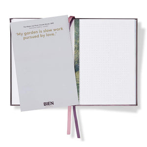 Monet 'The Earth Laughs in Flowers' Embroidered Notebook