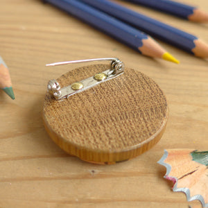 Round Pencil Brooch