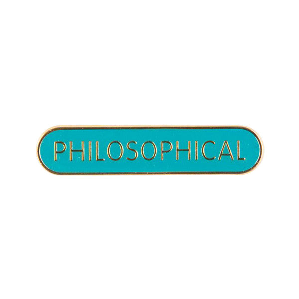 Philosophical Pin