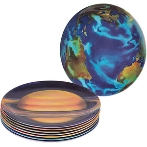 The Solar System - Melamine Planet Plate Set