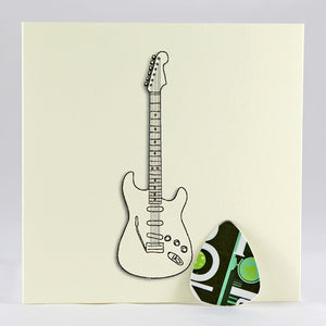 Electric Guitar Plectrum Card