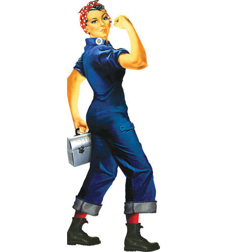 Rosie the Riveter Shaped Card