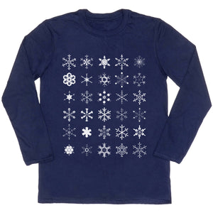 Snowflakes Diagram Long-sleeved Unisex T-shirt