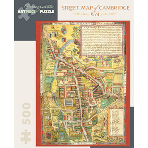 Street Map of Cambridge, 1574 500-piece Jigsaw Puzzle