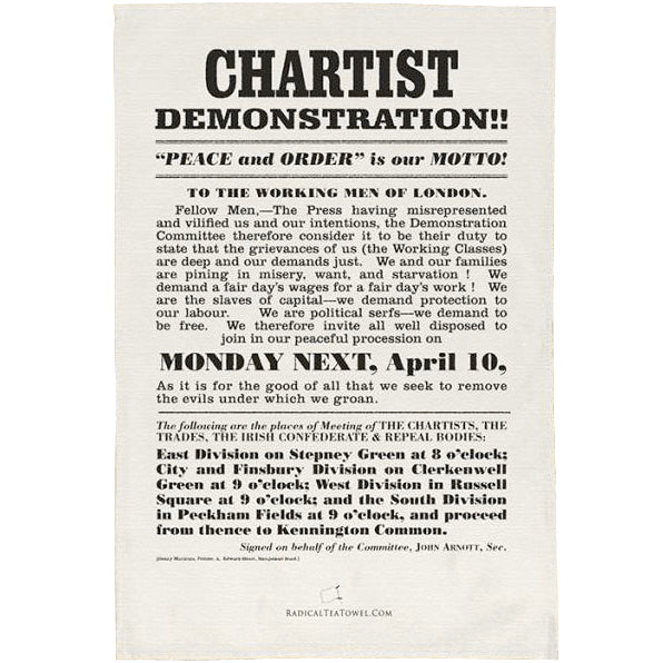 Chartist Demonstration Tea Towel