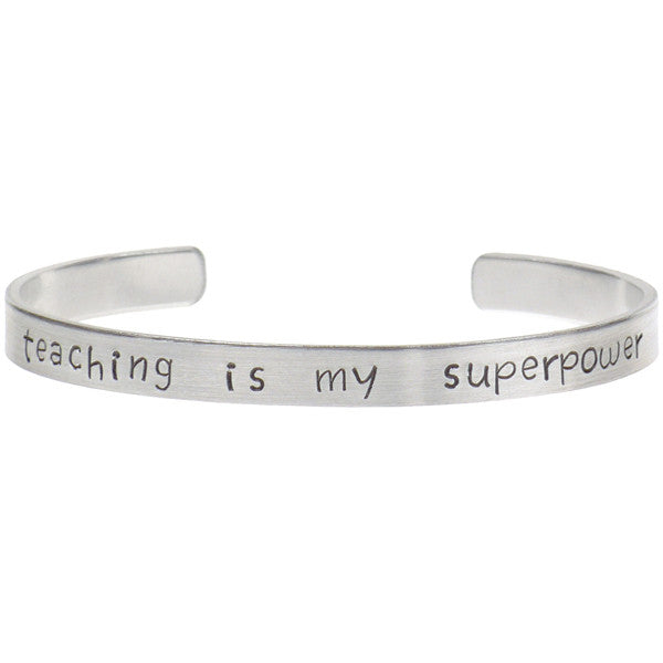 Teaching Is My Superpower Bracelet