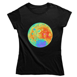 Topographical Moon Map Women's T-shirt
