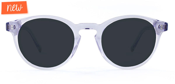 Lilac Crystal with Neutral Grey Lenses