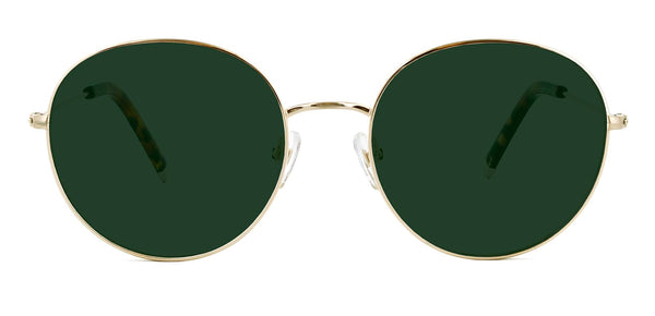 Brushed Gold with Classic Green Lenses