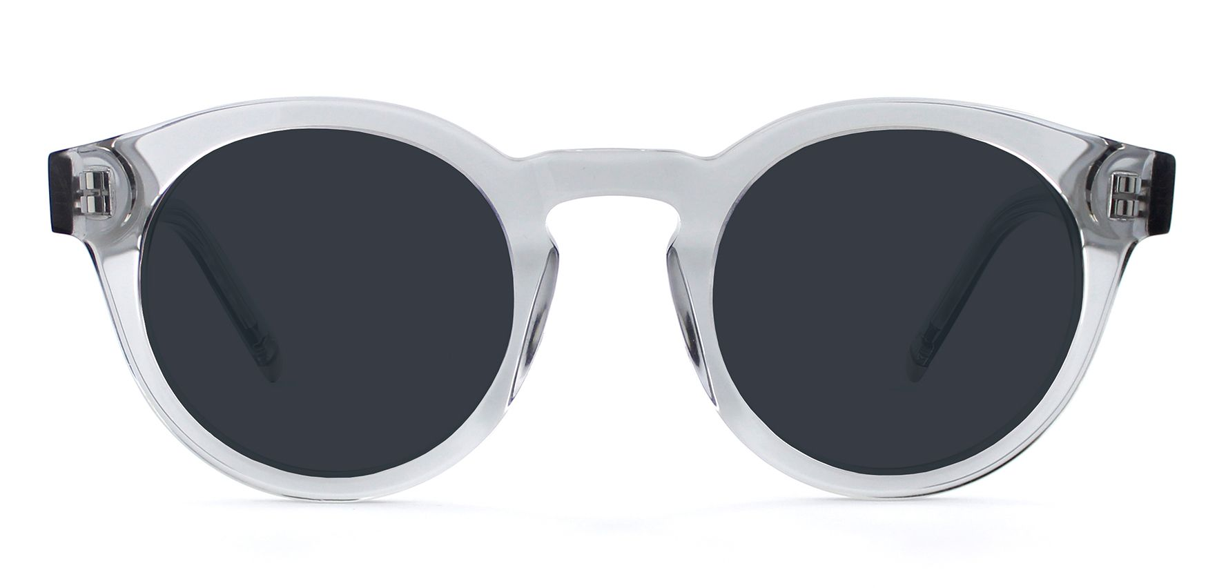 Light Grey Crystal with Neutral Grey Lenses