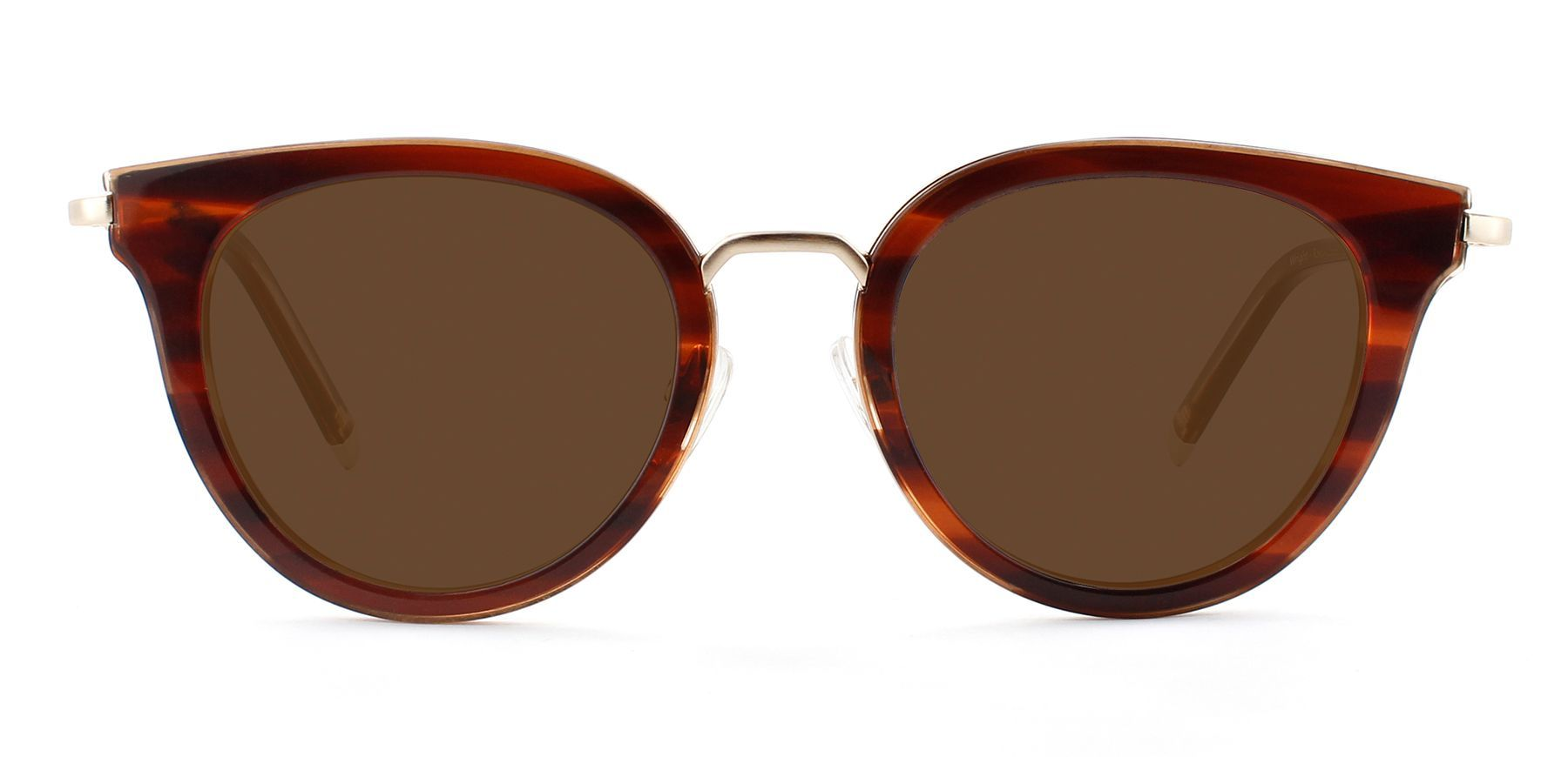 Rosewood Stripe with Bronze Lenses