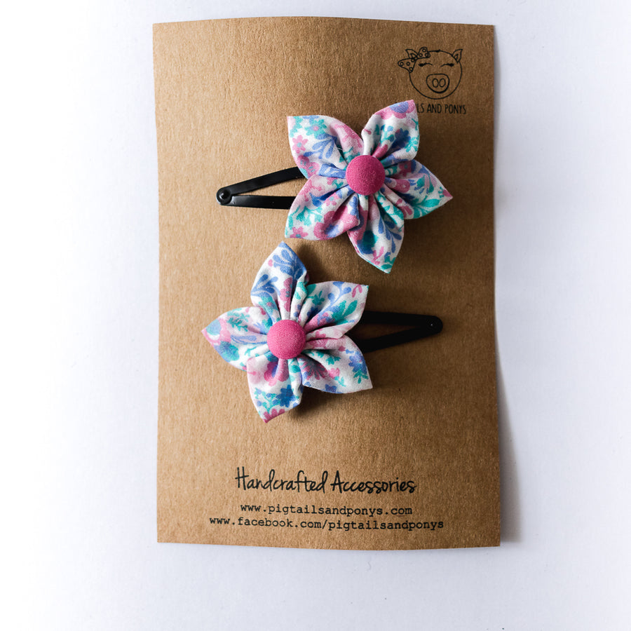 Izabella Flower Clips