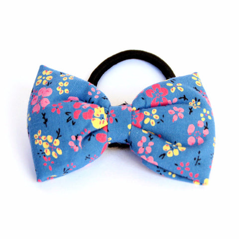 Blue Bloomer Hair Tie - Pigtails and Ponys  - 1