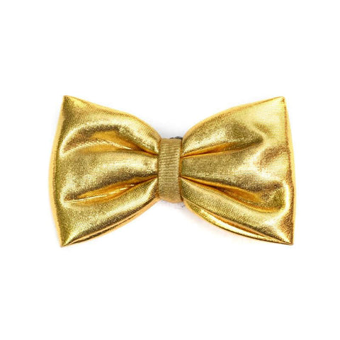 Golden Nugget Bow Clip - Pigtails and Ponys  - 1