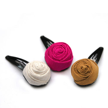 Festive Roses Clips - Pigtails and Ponys - Hair Clip - Handcrafted Accessories