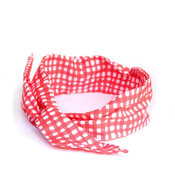 Red and White Bendy - Pigtails and Ponys - Bendy - Handcrafted Accessories