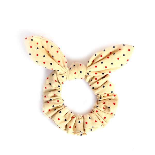 Polka Dot Bunny Ears Hair Tie - Pigtails and Ponys