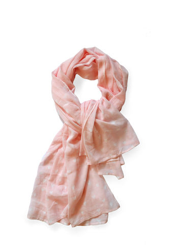 Rosy Hearts Scarf - Pigtails and Ponys  - 1