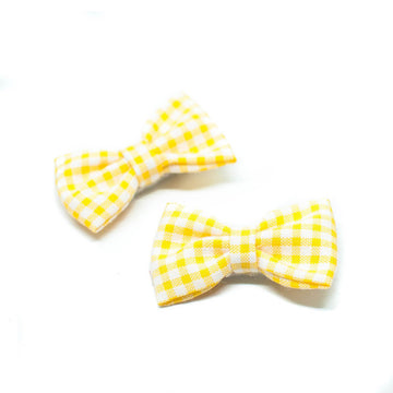 Sunny Gingham - Pigtails and Ponys - Hair Clip - Handcrafted Accessories